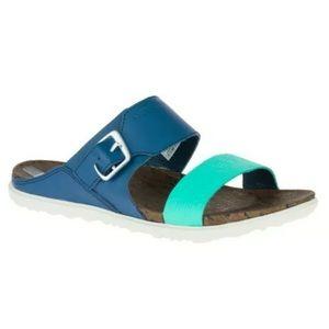 Merrell Womens Around Town Buckle Slide Sandals 10